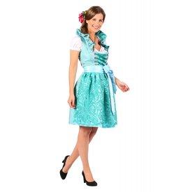Dirndl jurk ''Susanne'', Turquoise-Groen
