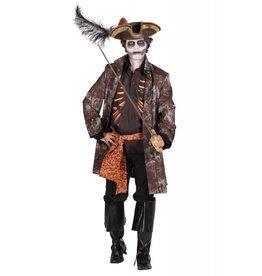 Kostuum heer ''Ghost pirate'', Mix van kleuren