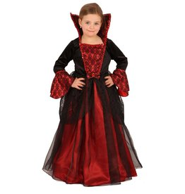 Kostuum Prinses rood/zwart