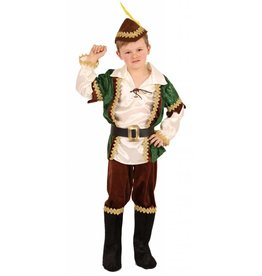 Kostuum Robin (3-delig) + 1 accessoire + hoed