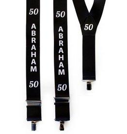 Bretels zwart 45 mm Abraham 50