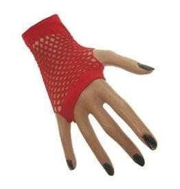 Nethandschoen kort vingerloos rood