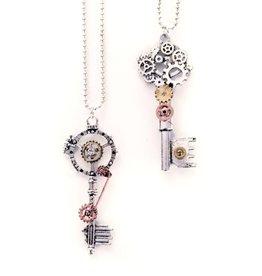 Ketting steampunk sleutels 2 assort