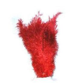 Floss veren rood (Piet veren) ± 30cm