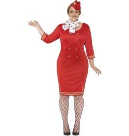 Curves Stewardess Kostuum