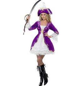 Paarse Pirate Beauty kostuum