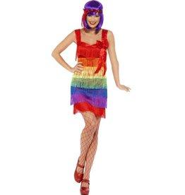 Flapper Kostuum Regenboog