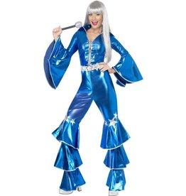 Jaren 70 Dancing Queen Kostuum, blauw