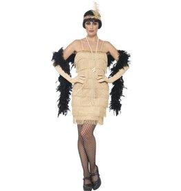 Korte Flapper Charleston jurk Goud