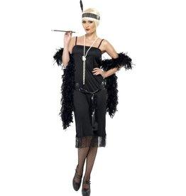 Flapper Charleston Kostuum, Zwart