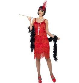 Flapper Shimmy Charleston Kostuum, Rood
