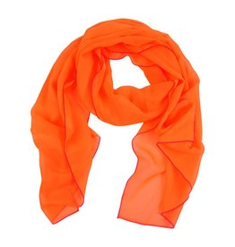 Sjaal fluor oranje