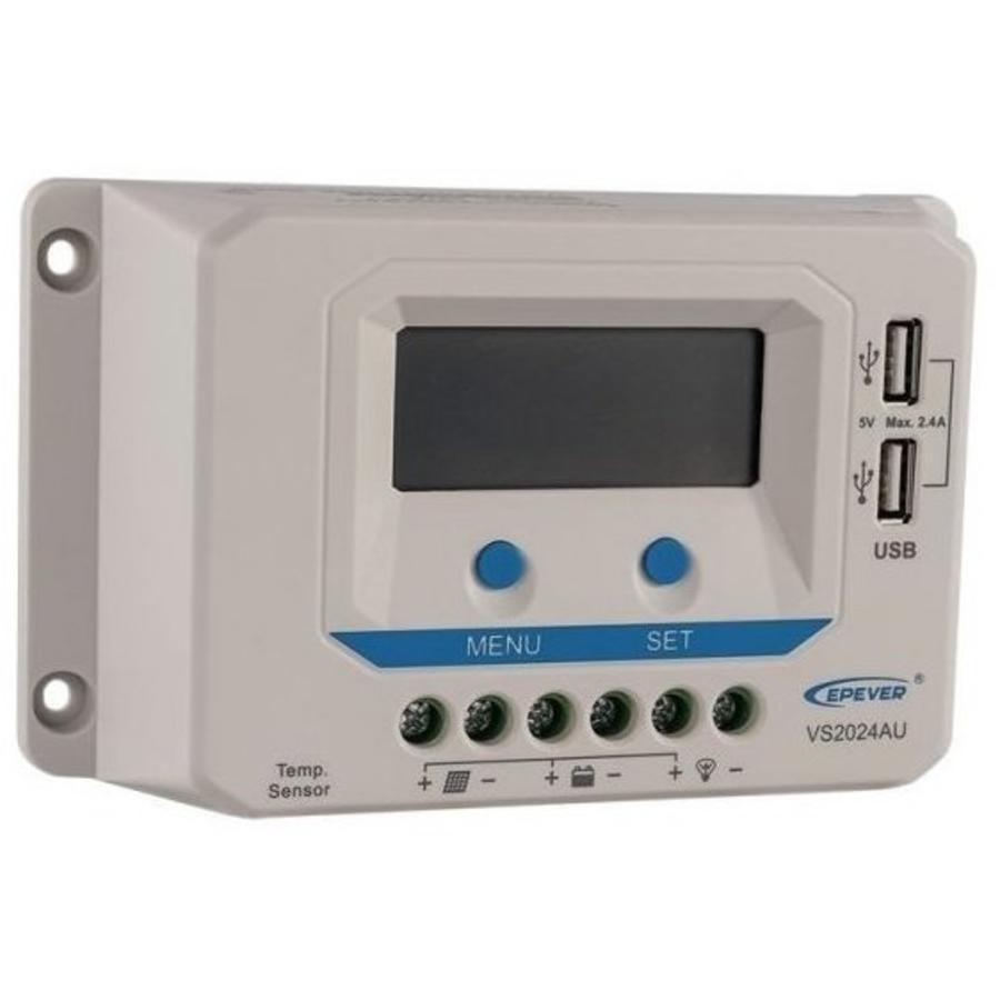 PWM laadregelaar VS1024AU Display 10 A