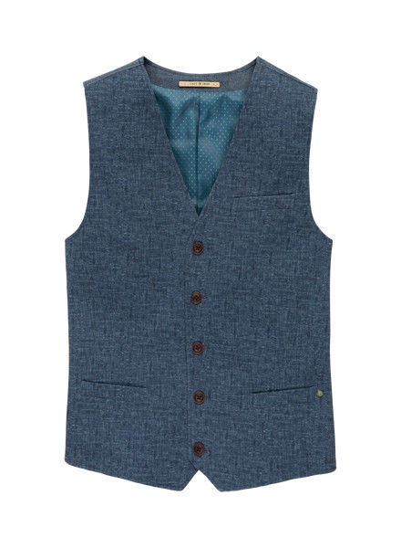 Cast Iron Cast Iron Gilet Denim