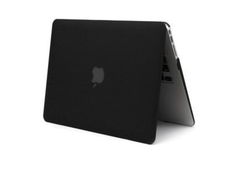 Blu-Basic Macbook 12 Hard Case Cover (Black) voor Apple Macbook 12 Inch