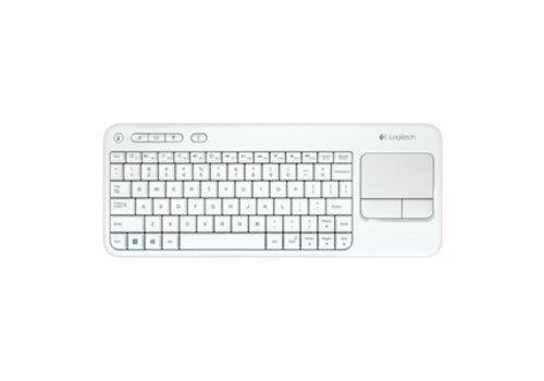 Logitech K400 Plus Draadloos Touch Toetsenbord US - Wit
