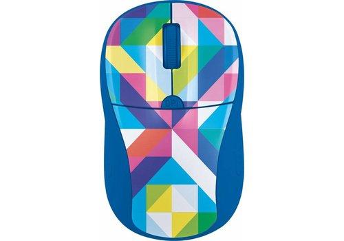 Trust Primo Wireless Mouse - Blauw/Geometrie