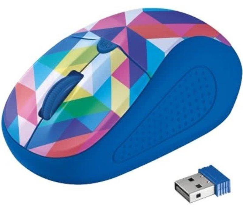 Primo Wireless Mouse - Blauw/Geometrie