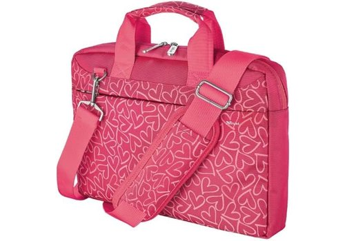 Trust Bari Carry Bag for 13.3 Inch laptops Pink hearts