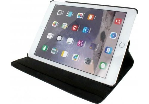 Xccess Roterende Lederen Stand Case Apple iPad Air 2 Zwart