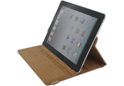 Xccess Rotating Leather Stand Case Apple iPad 2 White