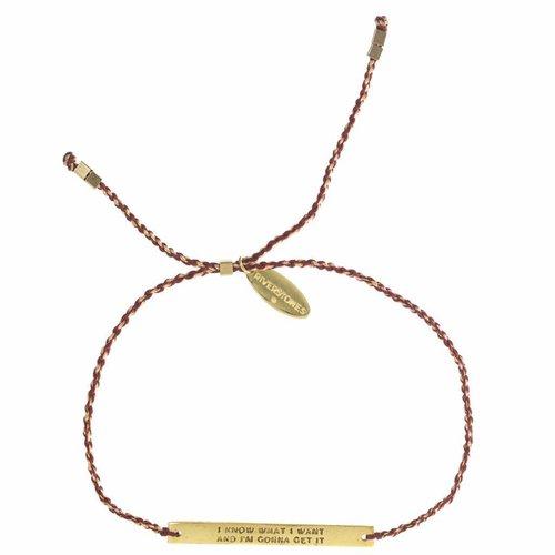 Own it bracelet Gold