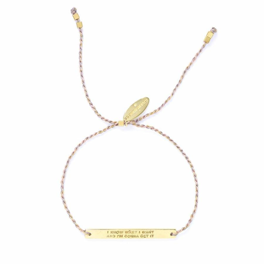 Own it Armband Goud