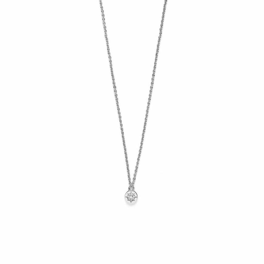 Compass Necklace Silver-1