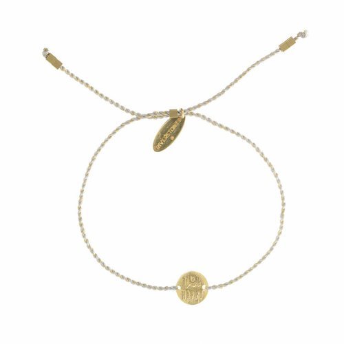 Think Happy Bracelet Gold
