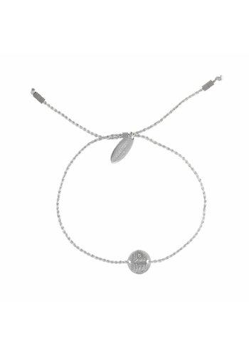 Think Happy Bracelet Silver