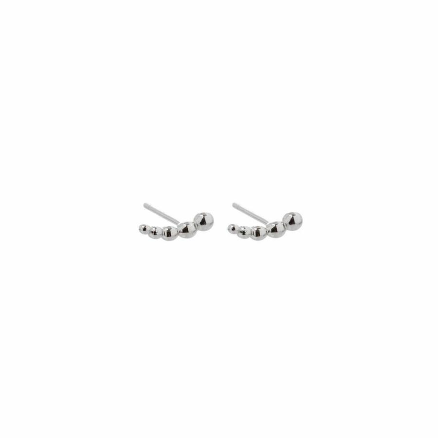 Droplet Studs Silver-1