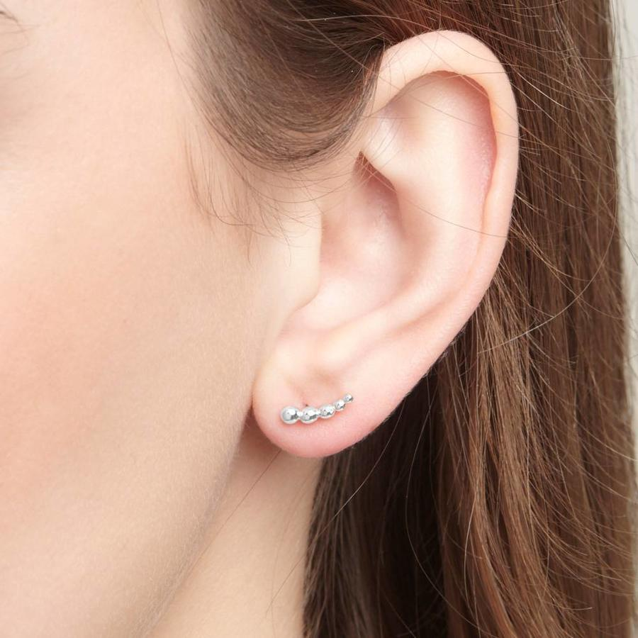 Droplet Studs Silver-2