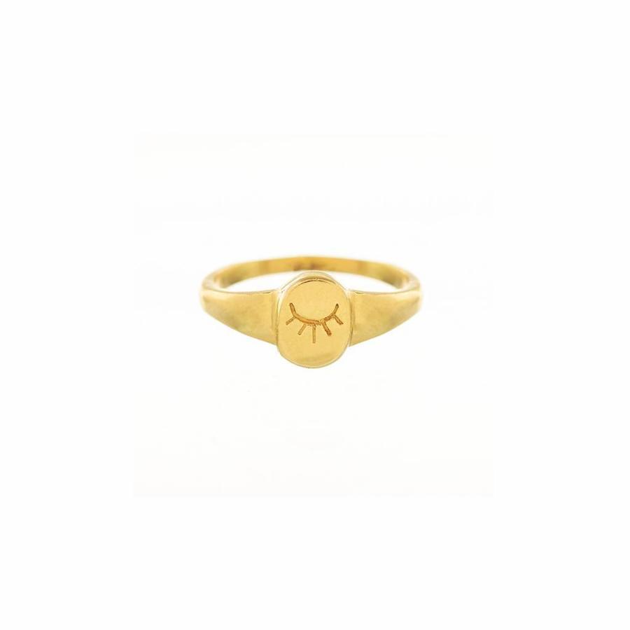 Unwind Signet Ring Goud-1