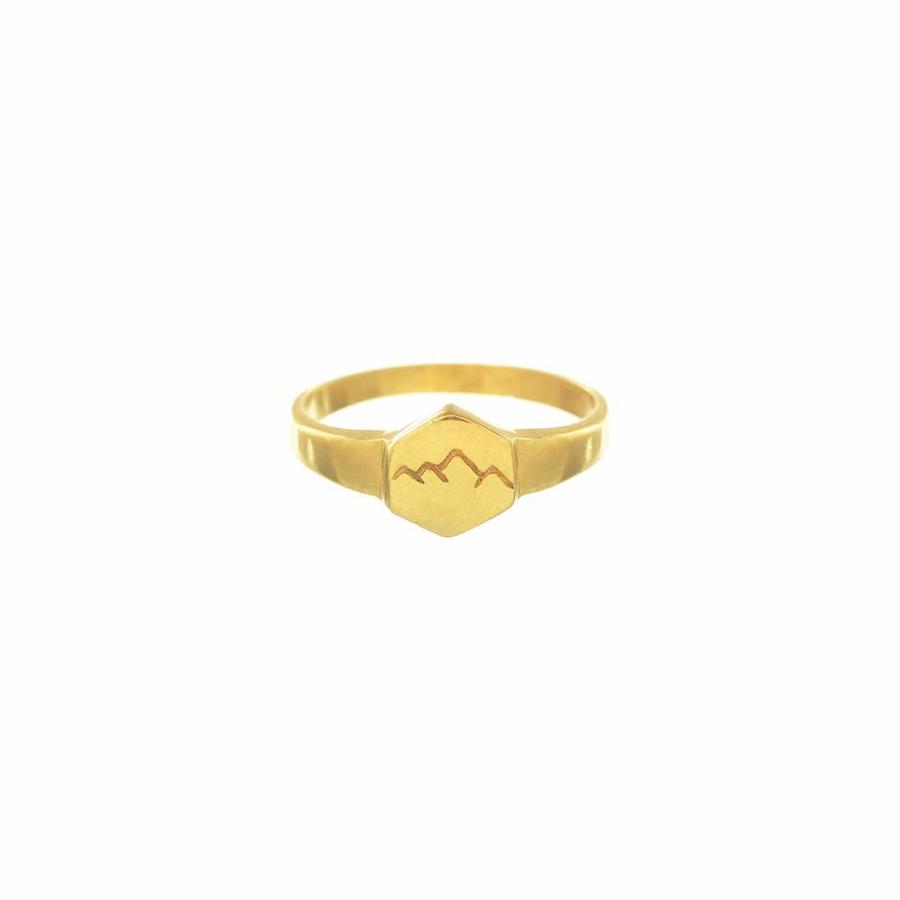 Scenic Signet Ring Goud-1