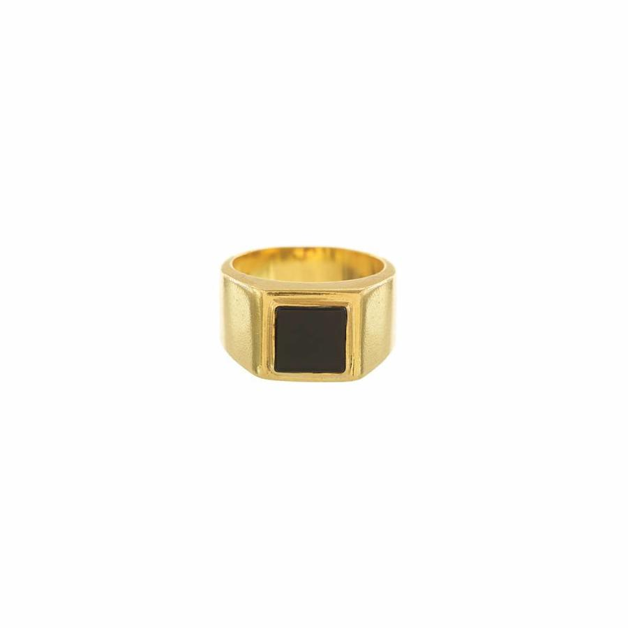 Onyx Signet Ring Gold-1