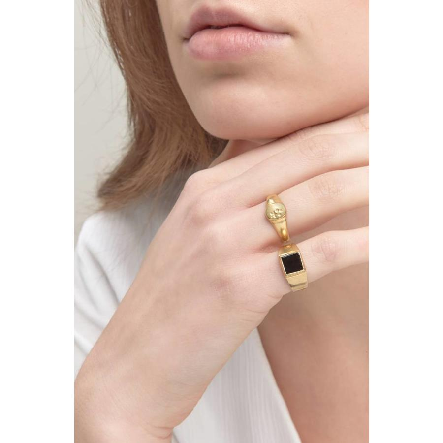 Onyx Signet Ring Gold-2