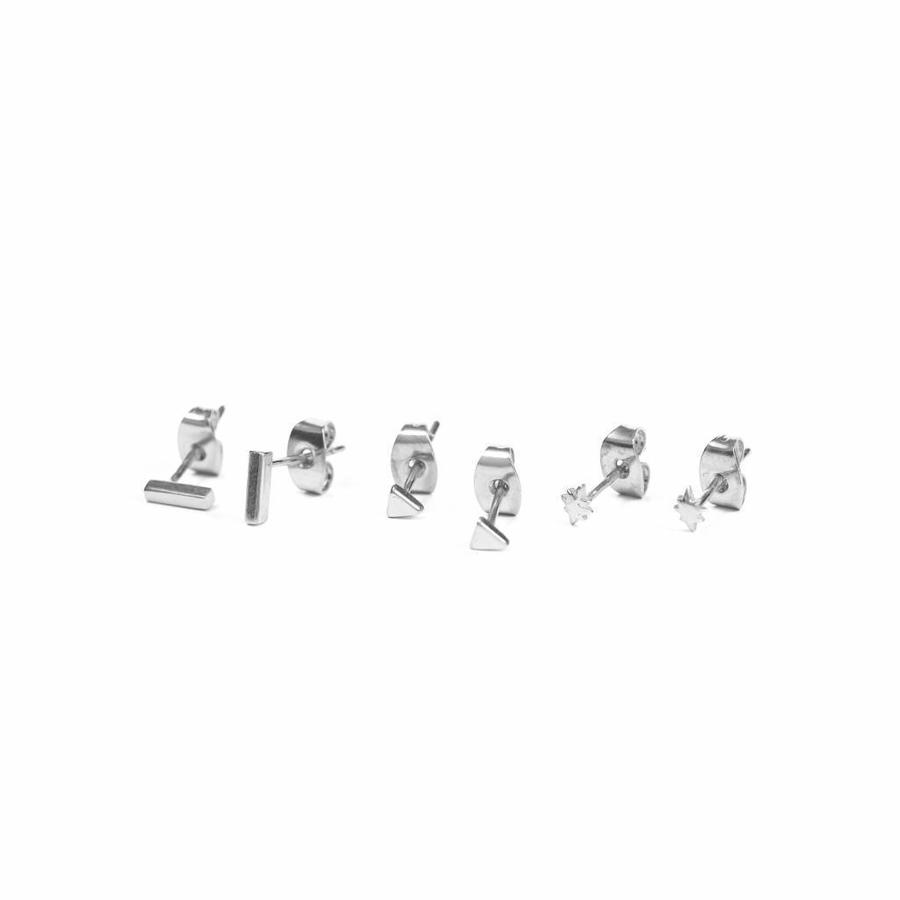 Tribe Studs Zilver