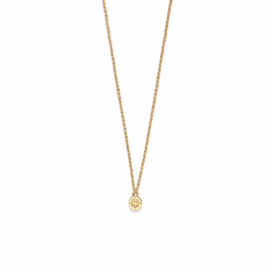 Compass Necklace Gold-1