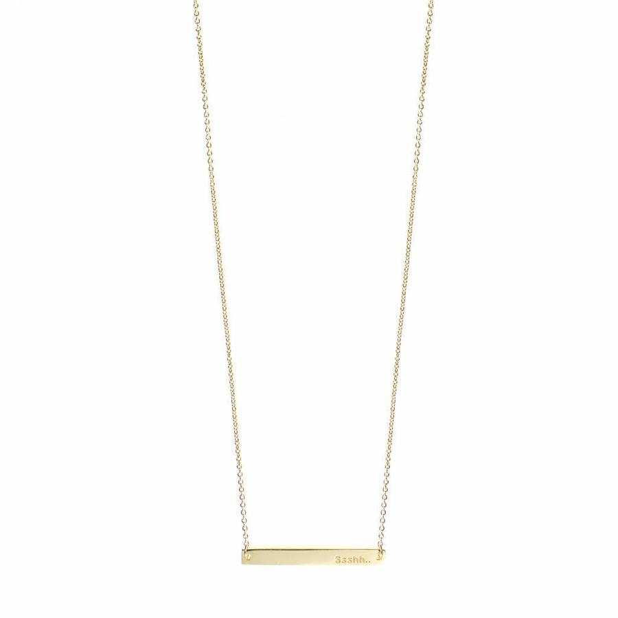 Ssshh Necklace Gold-1
