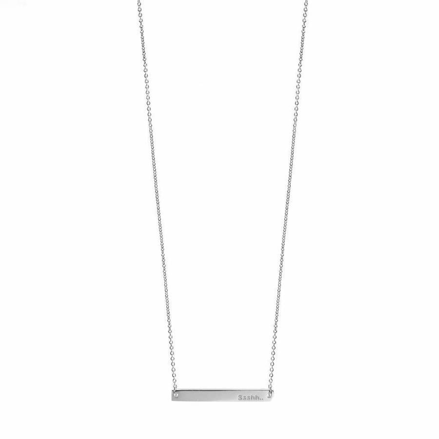 Ssshh Necklace Silver-1