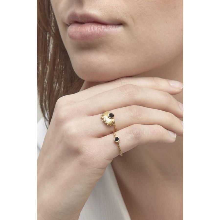 Reverie Ring Gold Black-5
