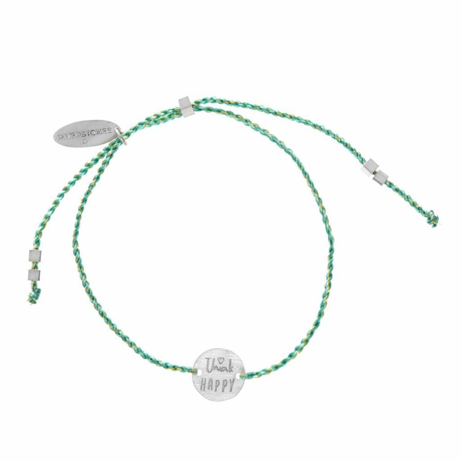 Think Happy Armband Zilver