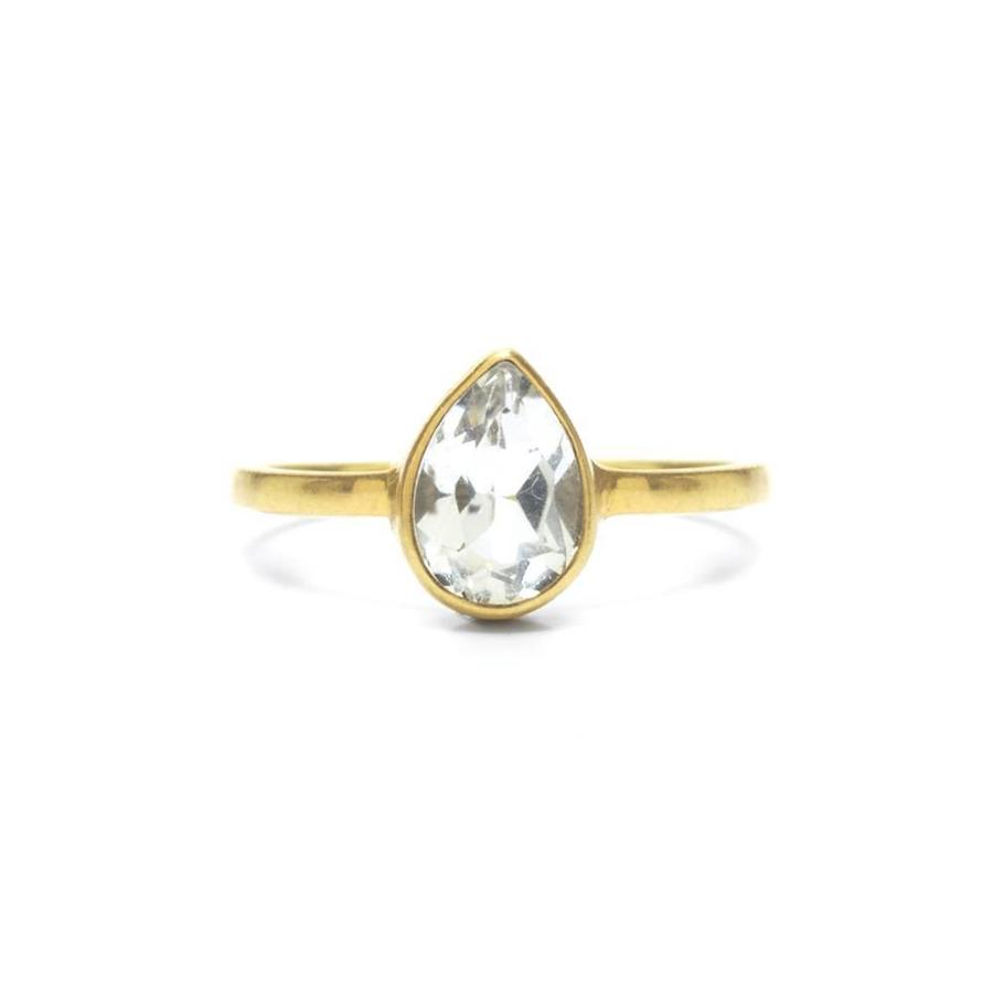 Clear Ring Goud