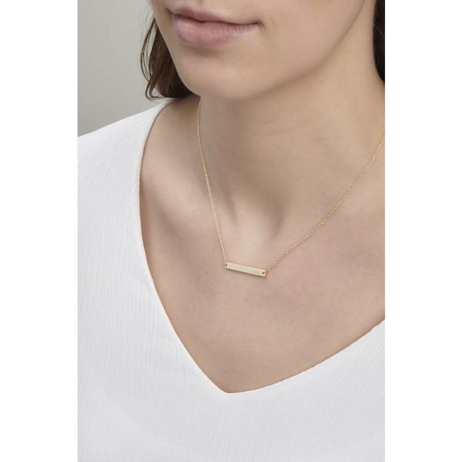 Ssshh Necklace Silver-2