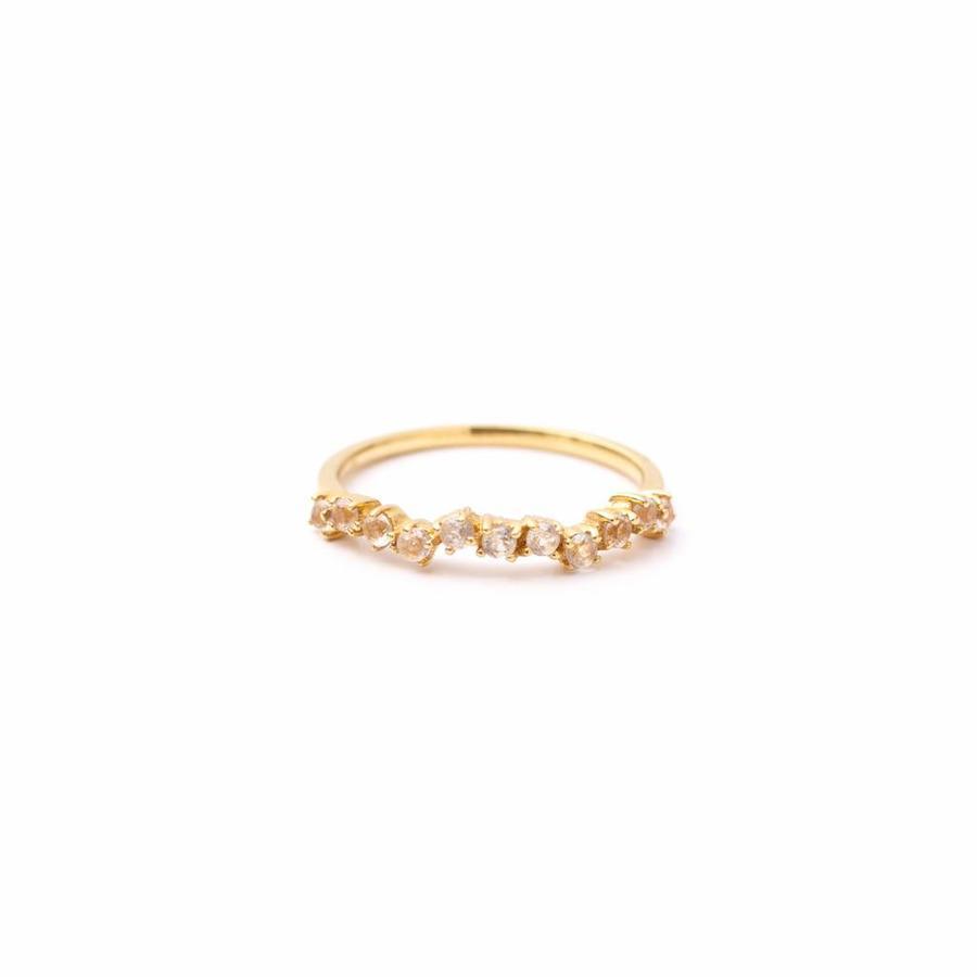 Crystallized Ring 18krt Goud-2
