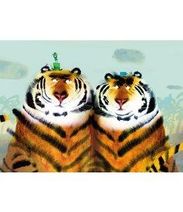 Fototapete Two Tigers
