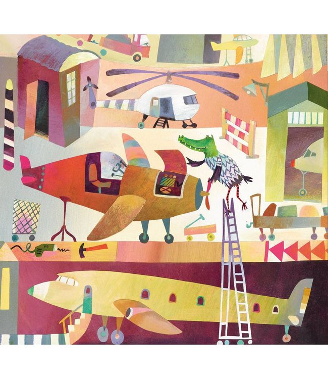 Alice Hoogstad Wall Mural for kids Airport, 292.2 x 280 cm