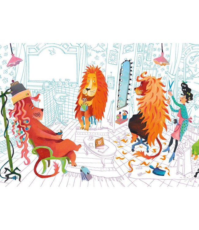 Alice Hoogstad Wall Mural for kids Lion's Haircut, 389.6 x 280 cm