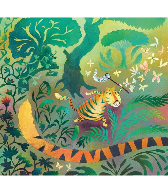 Alice Hoogstad Wall Mural for kids Hunting Tiger, 292.2 x 280 cm