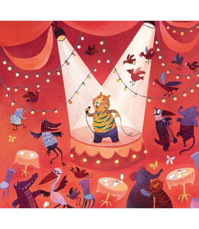 Alice Hoogstad Fototapete für Kinderzimmer Karaoke Tiger, 292.2 x 280 cm